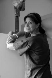 Schwarz-weiß Fotografie der Künstlerin